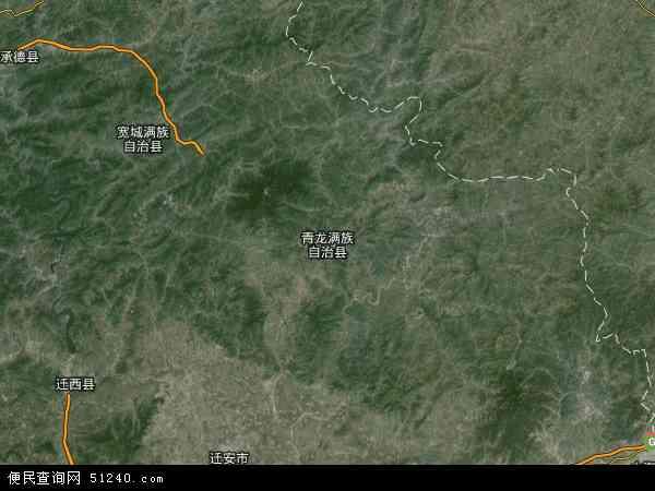 中国河北省秦皇岛市青龙满族自治县娄杖子镇地图(卫星地图)