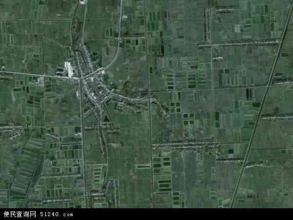 中国湖北省省直辖县级行政区划潜江市龙湾镇地图