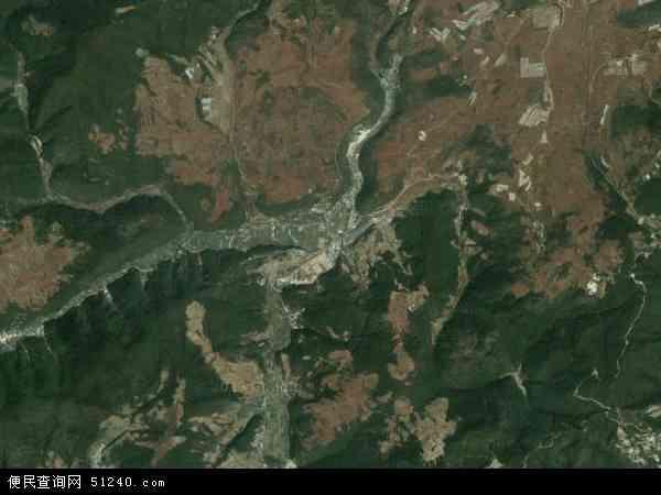 中国云南省玉溪市通海县里山乡地图(卫星地图)