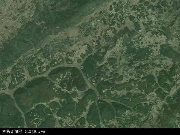 中国贵州省毕节市七星关区千溪乡地图(卫星地图)