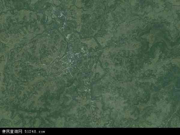 中国四川省资阳市安岳县石羊镇地图(卫星地图)