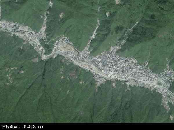 中国湖北省省直辖县级行政区划神农架林区松柏镇地图(卫星地图)图片