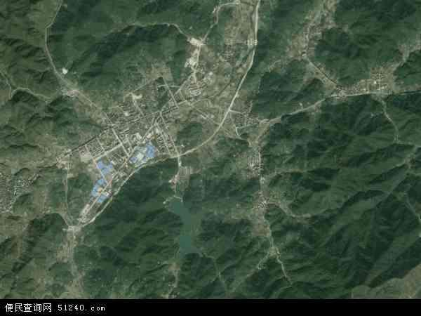 中国浙江省金华市磐安县尚湖镇地图(卫星地图图片