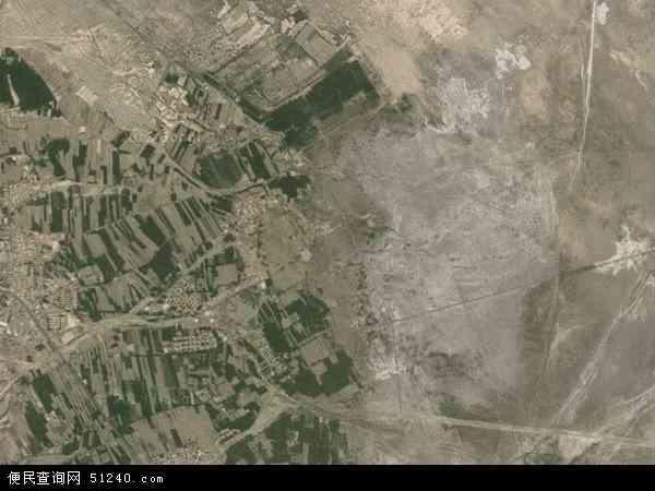 中国甘肃省白银市景泰县上沙沃镇地图(卫星地图)