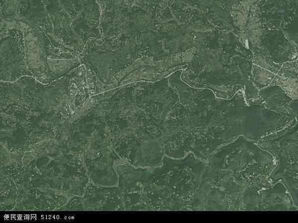 中国湖南省张家界市慈利县杉木桥镇地图(卫星地图)