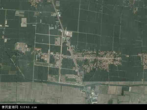 中国山东省菏泽市郓城县随官屯镇地图(卫星地图)
