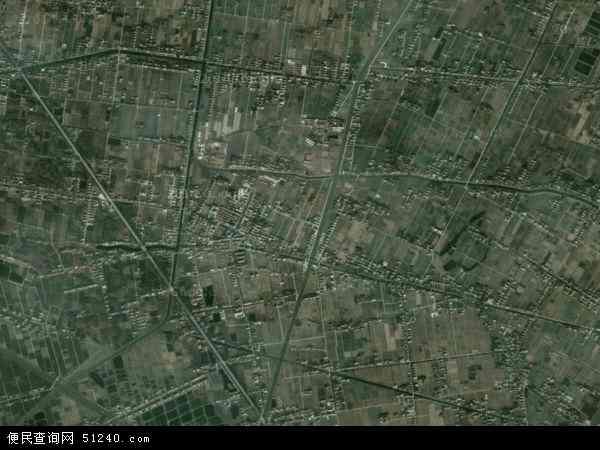 中国上海市崇明县三星镇地图(卫星地图)
