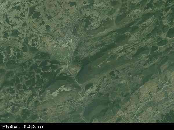 中国贵州省毕节市七星关区田坝桥镇地图(卫星地图)