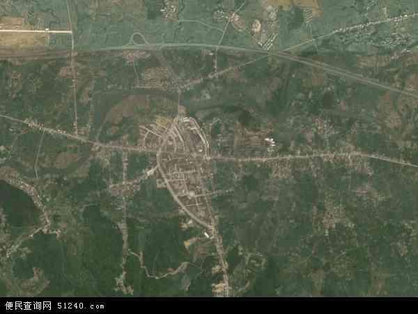 中国江西省上饶市鄱阳县田畈街镇地图(卫星地图)