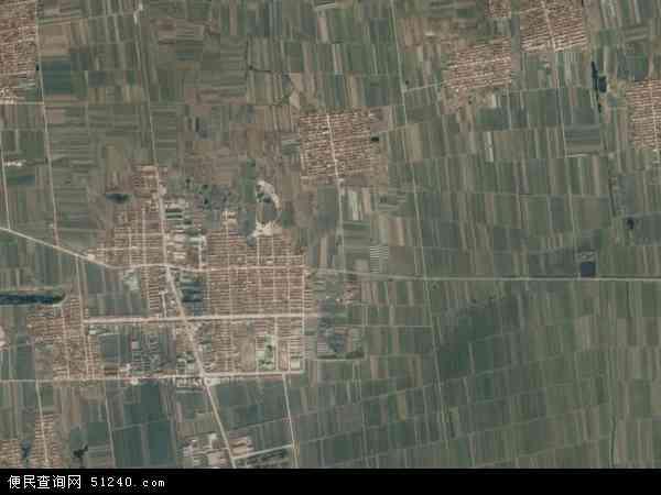 中国山东省青岛市平度市田庄镇地图(卫星地图)