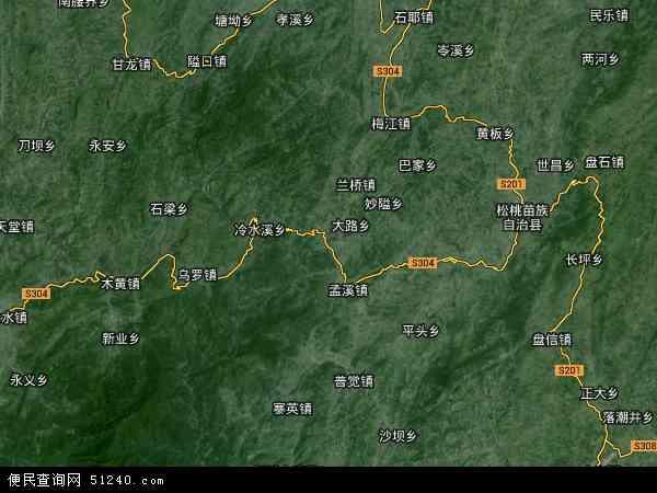 中国贵州省铜仁市江口县太平镇地图(卫星地图)