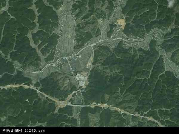 中国福建省三明市大田县桃源镇地图(卫星地图)