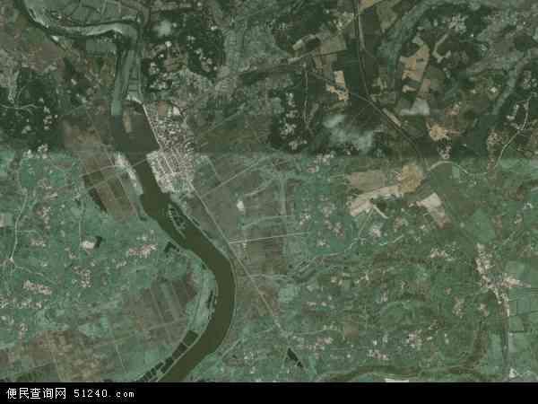中国海南省省直辖县级行政区划文昌市文教镇地图(卫星地图)