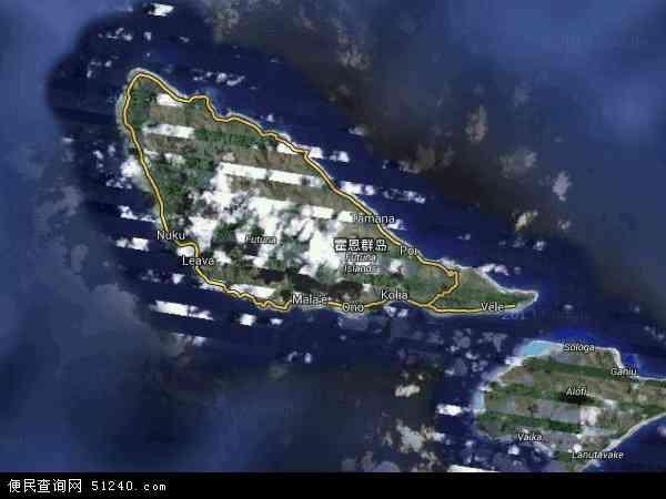瓦利斯和富图纳群岛地图