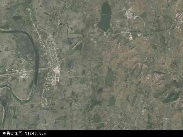 中國河南省南陽市桐柏縣吳城鎮地圖(衛星地圖)