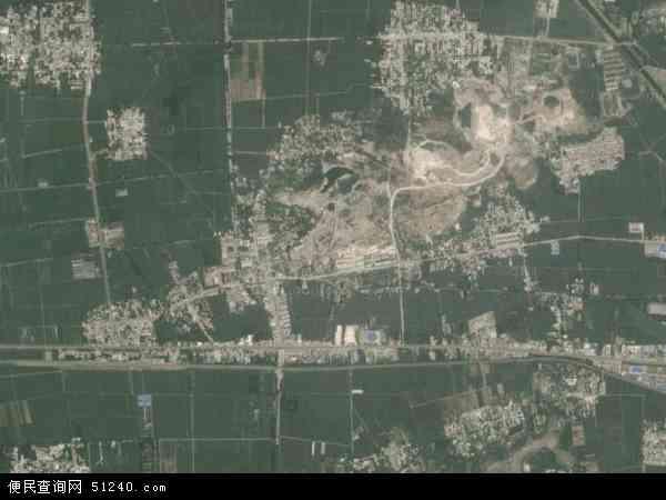 中国山东省济宁市嘉祥县卧龙山镇地图(卫星地图)图片