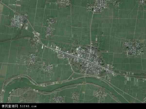 中国河南省漯河市郾城区新店镇地图(卫星地图