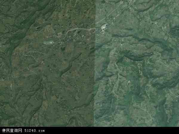 中国重庆市涪陵区新妙镇地图(卫星地图)
