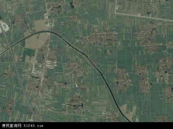 中国河南省商丘市梁园区周集乡地图(卫星地图)