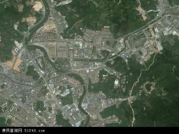 中国广东省东莞市樟木头镇地图(卫星地图)