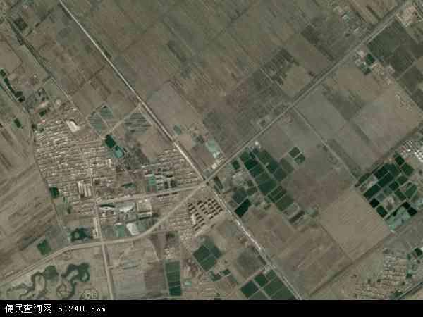 中国辽宁省盘锦市大洼县赵圈河镇地图(卫星地图)