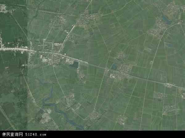 中国湖北省襄阳市老河口市竹林桥镇地图(卫星地图)