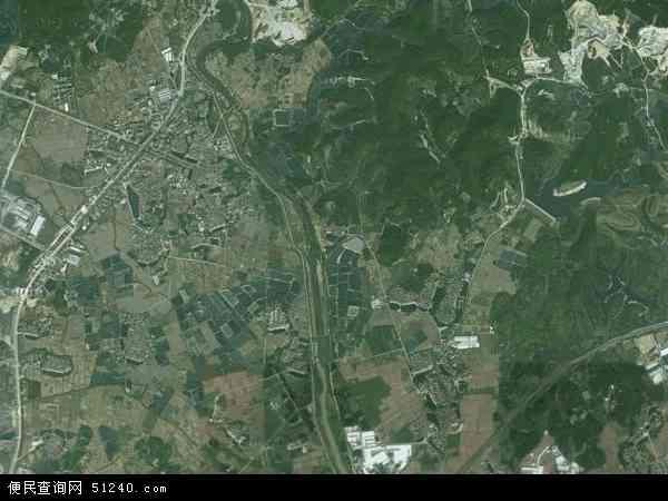 中国广东省江门市鹤山市址山镇地图(卫星地图)