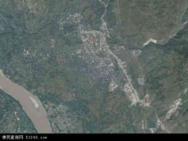 中国云南省昭通市巧家县白鹤滩镇地图(卫星地图)