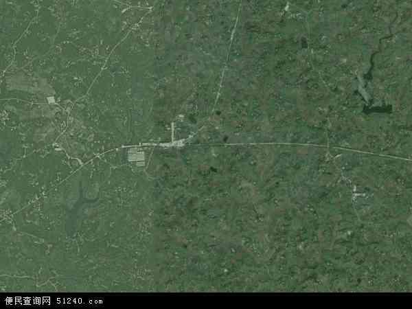 中国四川省广安市武胜县白坪乡地图(卫星地图)