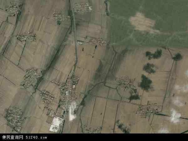 中国吉林省四平市梨树县白山乡地图(卫星地图)
