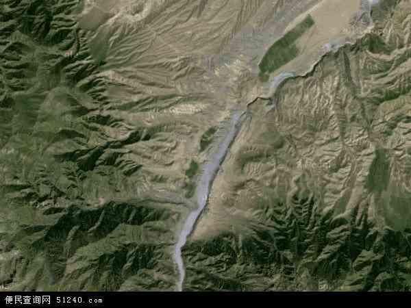 中国新疆维吾尔自治区塔城地区乌苏市巴音沟牧场地图