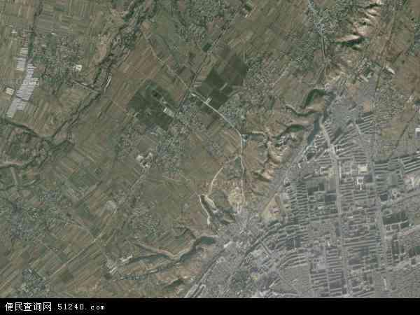中国甘肃省临夏回族自治州临夏县北塬乡地图(卫星地图)