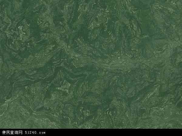 中国四川省南充市营山县柏坪乡地图(卫星地图)