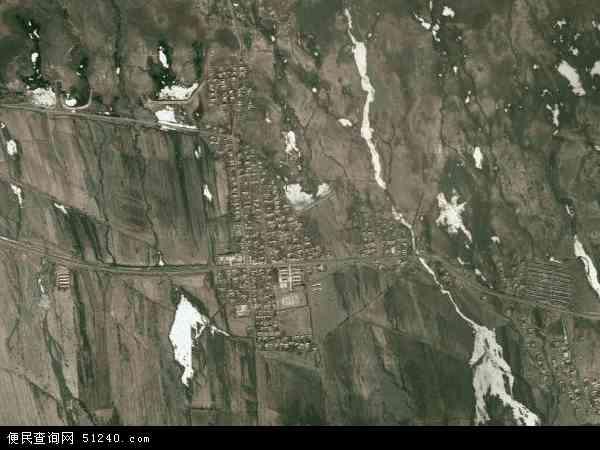 塔城地区和布克赛尔蒙古自治县查干库勒乡地图(卫星