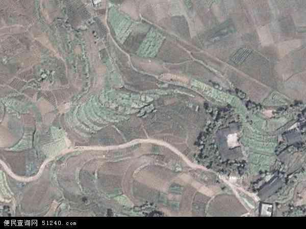 中国四川省达州市大竹县高明乡地图(卫星地图)