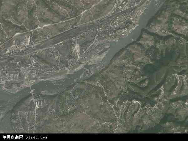 中国陕西省安康市汉滨区关庙镇地图(卫星地图)