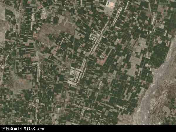 中国甘肃省酒泉市金塔县古城乡地图(卫星地图)