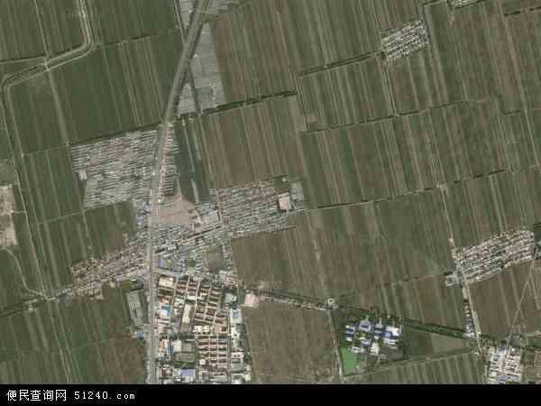 中国黑龙江省大庆市大同区高台子镇地图(卫星地图)