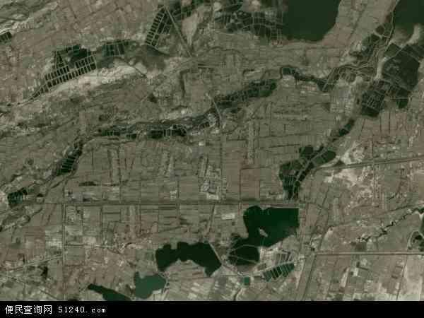 中国甘肃省酒泉市肃州区铧尖乡地图(卫星地图)
