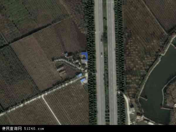 中国江苏省泰州市海陵区火车站街区地图(卫星地图)
