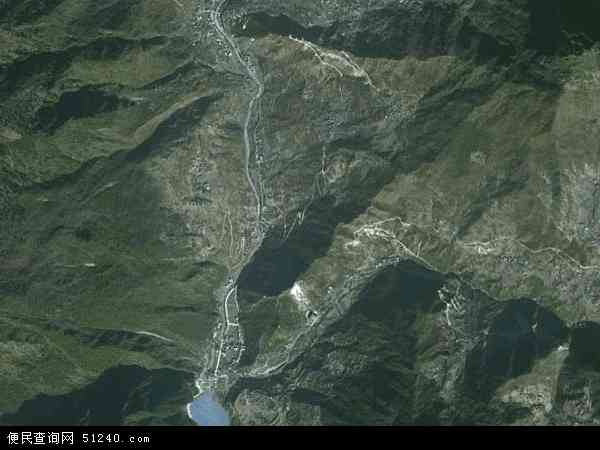 中国四川省甘孜藏族自治州康定县金汤乡地图(卫星地图)