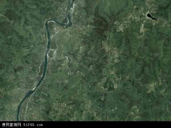 中国湖南省怀化市溆浦县九溪江乡地图(卫星地图)