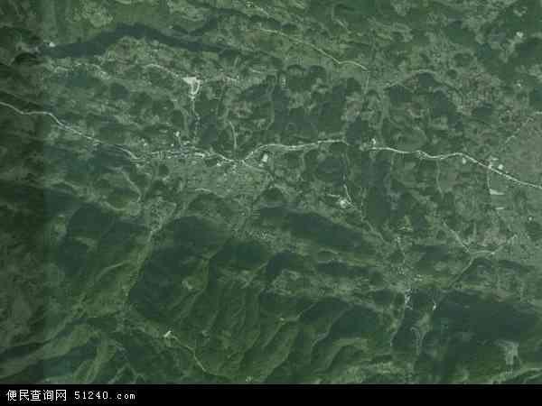 中国重庆市巫溪县尖山镇地图(卫星地图)