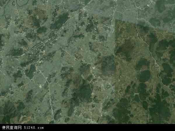 中国湖南省邵阳市邵东县九龙岭镇地图(卫星地图)