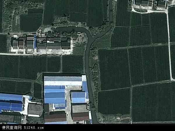 中国上海市金山区金山工业区地图(卫星地图)