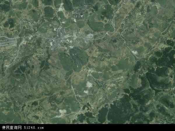 中国贵州省遵义市遵义县龙坪镇地图(卫星地图)