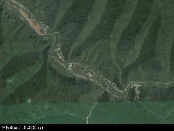 中国陕西省宝鸡市凤县留凤关镇地图(卫星地图)