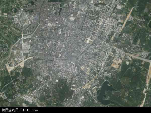 中国广西壮族自治区北海市合浦县廉州镇地图(卫星地图)图片
