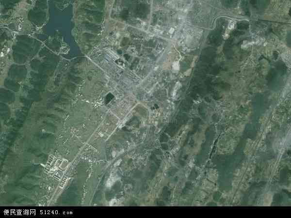 中国贵州省遵义市遵义县龙坑镇地图(卫星地图)