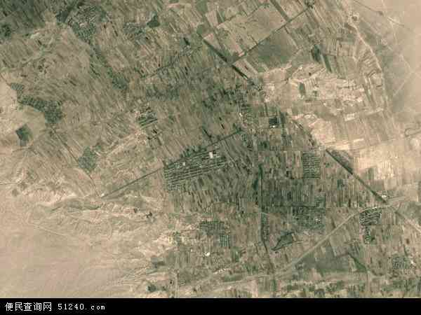 中国甘肃省白银市景泰县漫水滩乡地图(卫星地图)
